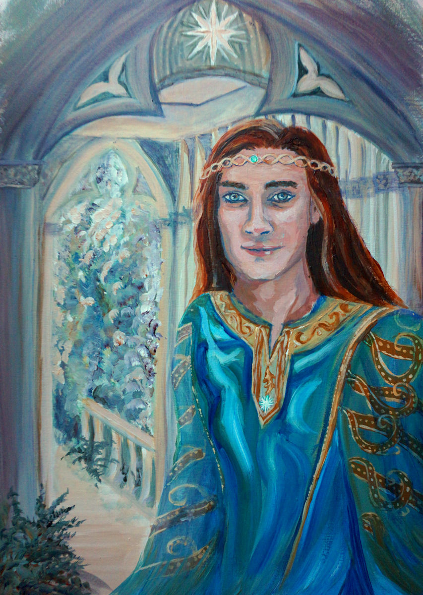A young Maedhros in Valinor and an older Maedhros in Beleriand.