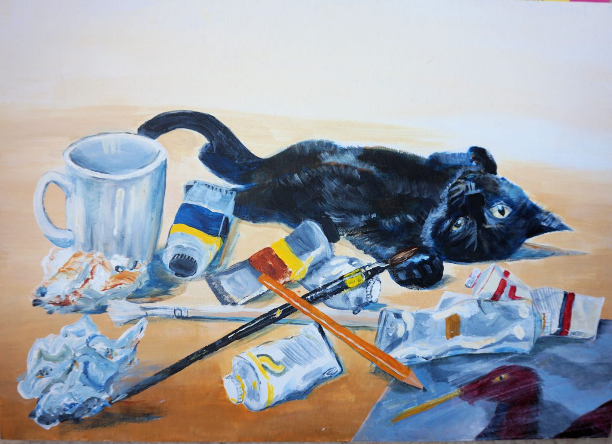 Still Life with a Kitten