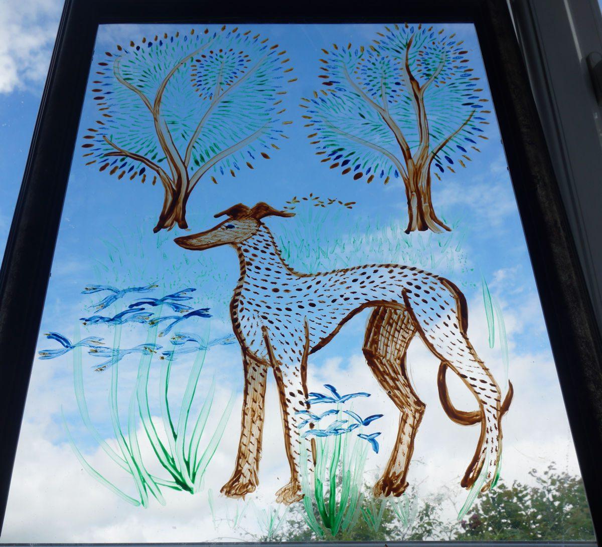 Painting on Perspex