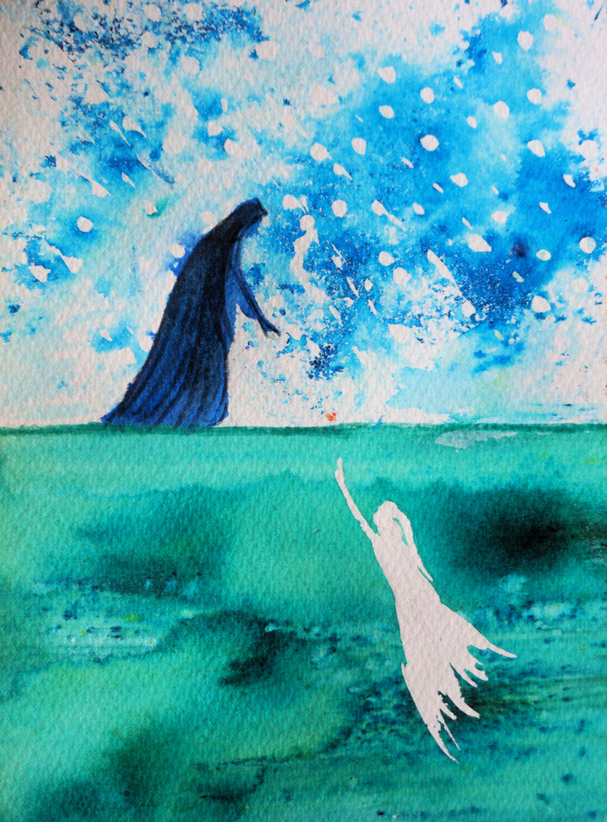 Some little ink and brusho Silmarillion-inspired paintings